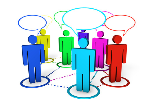 Internet Community And Social Networking Concept